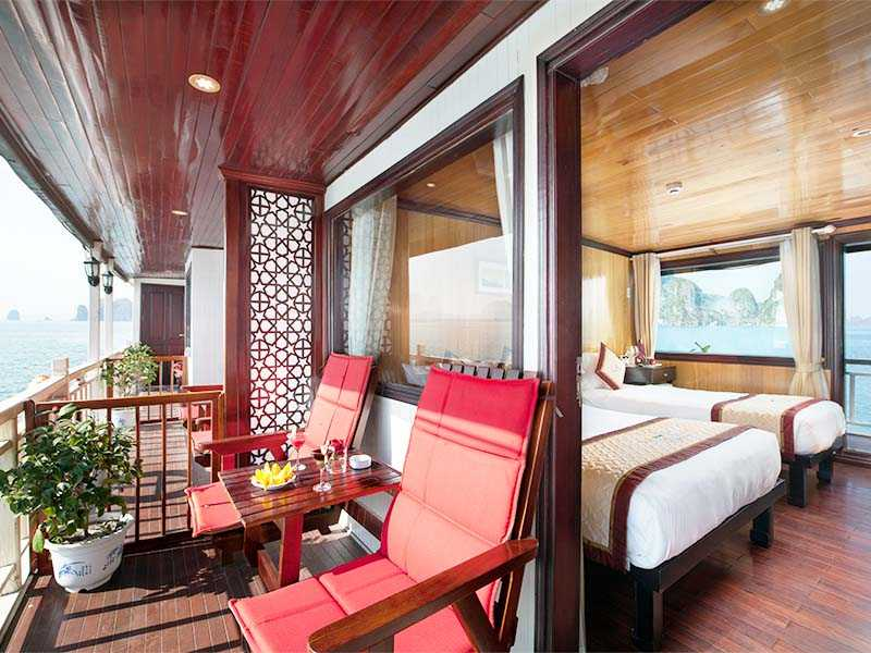 Suite Ocean View - 2 Pax/ Cabin (Location: 2nd Deck - Private Balcony)